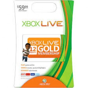 XBX360 XBOX 360 LIVE 12-MONTH GOLD CARD/