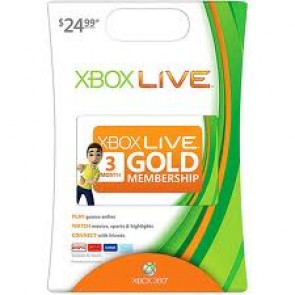 XBX360 XBOX 360 LIVE 3-MONTH GOLD CARD/
