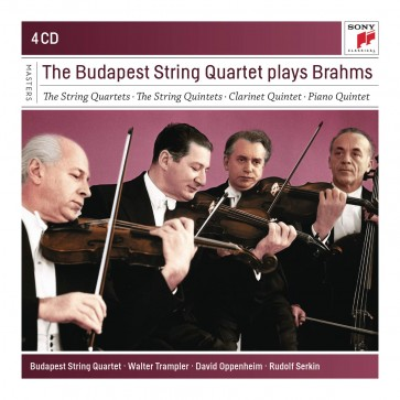 THE BUDAPEST STRINQ QUARTET PLAY BRAHMS 4CD