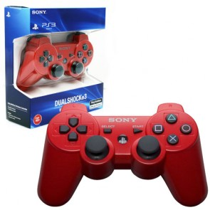 PS3 SONY SIXAXIS DUALSHOCK 3 WIRELESS CONTROLLER DEEP RED (US)
