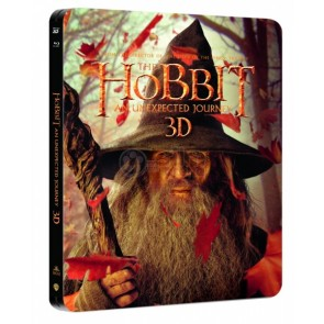HOBBIT AN UNEXPECTED JOURNEY 4 DISC (3D 2disc & 2D & BONUS) STEELBOOK