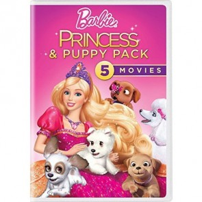 BARBIE PRINCESS & PUPPY PACK - 5 MOVIES DVD