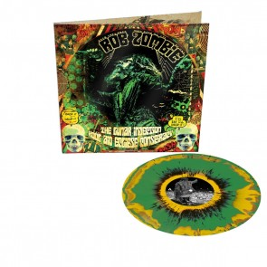 THE LUNAR INJECTION KOOL AID ECLIPSE CONSPIRACY LP YELLOW/GREEN SPLATTER IN GATEFOLD INKL. BOOKLET